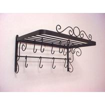 Paneleiro Rustico Em Ferro - Porta Panelas Rustico Em Ferro