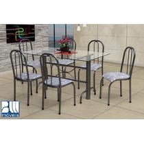 Conjunto Italia Mesa E 6 Cadeiras Marcheli