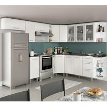 Cozinha Completa Modulada Kali Branco Uv Arezzo Tok 13 Mód