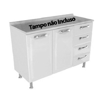 Balcao Itatiaia Premium 2p 4g S/ Tampo - F.l. - Ig3g4-d -