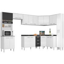 Jogo Cozinha Modulada 9 Peças - Poquema Bruna Branco/preto