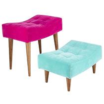Conjunto De Puffs Pé Palito Nobuk Rosa E Azul Fullway