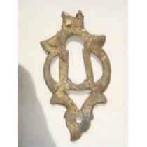 Espelho Antigo P/ Entrada De Chave Em Bronze (29)