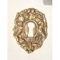 Espelho Antigo P/ Entrada De Chave Em Bronze (77)