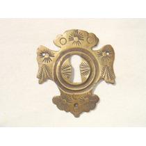 Espelho Antigo P/ Entrada De Chave Em Bronze (76)