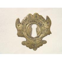 Espelho Antigo P/ Entrada De Chave Em Bronze (71)