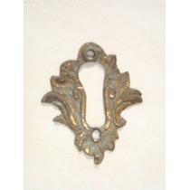 Espelho Antigo P/ Entrada De Chave Em Bronze (38)