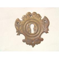 Espelho Antigo P/ Entrada De Chave Em Bronze (72)