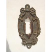 Espelho Antigo P/ Entrada De Chave Em Bronze (24)