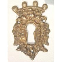 Espelho Antigo P/ Entrada De Chave Em Bronze (58)