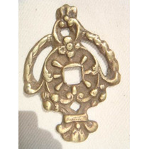 Espelho Antigo P/ Entrada De Chave Em Bronze (78)
