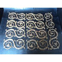Lote Com 10 Apliques Em Bronze Para Móveis Antigos