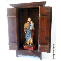 Oratório - Arte Sacra - Antiquário Brasil.