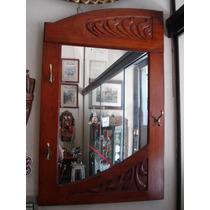 Lindo Espelho- Chapeleiro De Parede Antigo