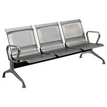 Cadeira Longarina Aço Inoxidável 3 L Espera Hospital Clinica