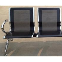 Longarina Aeroporto Cadeira Aço 2 Lug Consultório Clínica