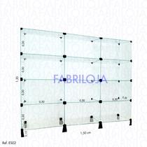 Prateleira Estante De Vidro Modulado - 1,50 X 1,30 X 0,30