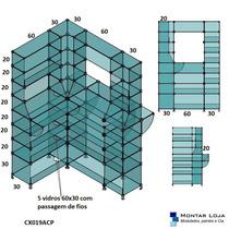 Balcão De Vidro Modulado Caixa Cx019acp 1.2x0,90mts C Branco
