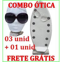 Combo Kit Expositor Otica Frete Gratis Oculos De Sol Ou Grau