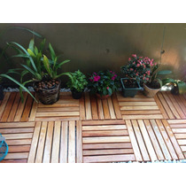 Estrado Deck Em Madeira 40 X 40 Vernizado