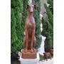 Escultura Cachorro Galgo Vrf187 - Casa E Jardim - Decoração
