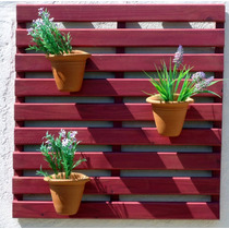 Painel De Madeira Para Jardim Vertical - Réguas Framboesa