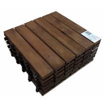 Deck Modular Madeira Tratada Acacia Varanda Sacada 30 X 30cm