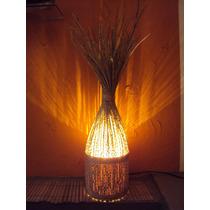 Luminária Rustico Artesanal Em Cacho De Açaí