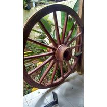 Roda De Carroça Antiga Original Não De Mdf A Retirar