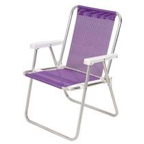 Cadeira Alta Aluminio Sannet Lilas Mor