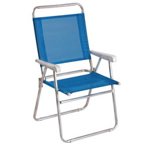 Cadeira Master Plus Alumínio Azul - Mor