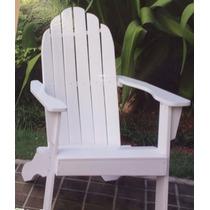Cadeira Poltrona Adirondack Em Madeira Branca