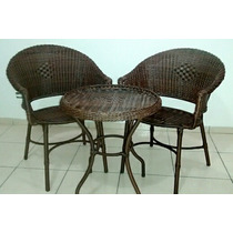 Jogo Vime/fibra Sintética Poltronas/cadeiras/mesa Promoção