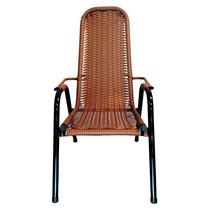 Cadeira De Area Jardim Externo Rattan Preto Chuva Sol