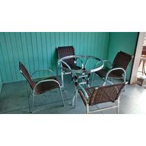 Jogo De Mesa Com 4 Cadeiras Em Fibra Sintetica
