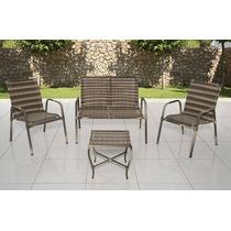 Conjunto Namoradeira + 2 Cadeiras + Mesa Em Fibra Sintética
