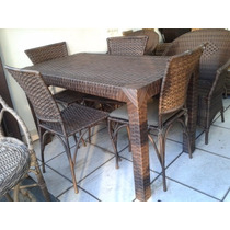 Conjunto Mesa Bali 4 Cadeiras - Apucarana Artesanatos