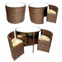 Mesa E Cadeiras Em Fibra Sintética Pizza