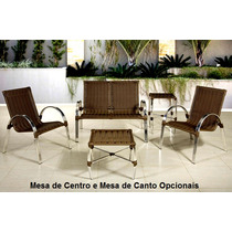 Conjunto Namoradeira Alumínio +2 Cadeiras / Mesas Opcionais