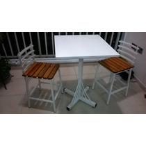 Conjunto Mesa E 2 Cadeiras Em Ferro - Produto Atmosferr