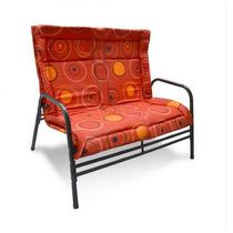 Banco Cadeira Para Jardim Namoradeira Preta E Vermelha
