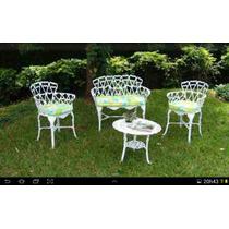 Jogo 2 Cadeiras 1mesa De Centro 1 Namoradeira Jardim