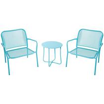Jogo De Jardim Mesa E Cadeiras Em Aço Pintura Eletrostática
