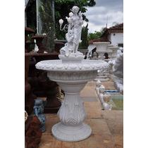 Estatua/ Escultura Fonte Criança - Fml060 - Para Jardim