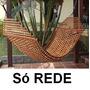 Rede Descanso Para Casal De Madeira-cambara Tramada Relax