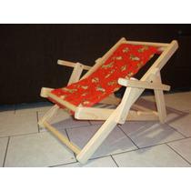 Cadeira Espreguiçadeira De Madeira Infantil