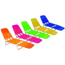 Cadeira Espreguicadeira Mor Pvc Combo 4pcs