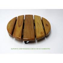 Suporte De Vasos Com Rodízios C/ 40 Cm De Diametro
