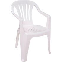 Cadeira De Plástico Empilhável Poltrona Resistente