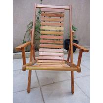 Cadeira Espreguiçadeira Em Madeira Maciça De Lei.